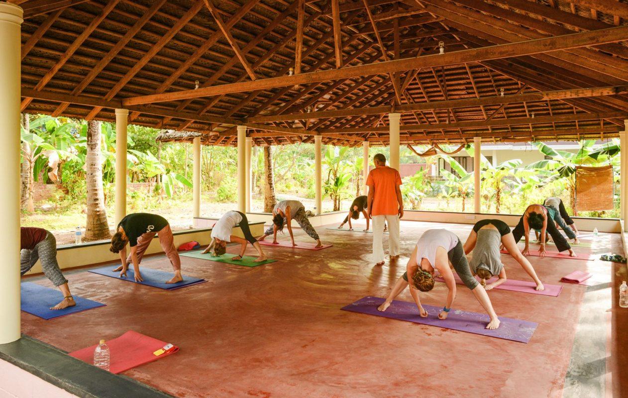 Yoga class, with Hari