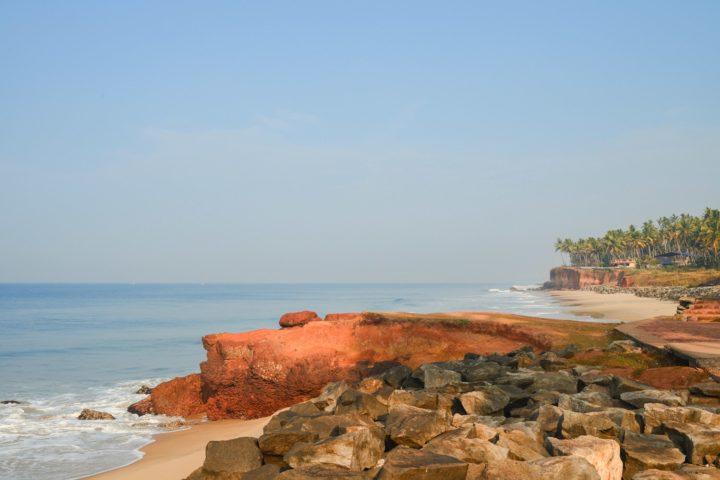 Varkala beach, relaxing for meditation,