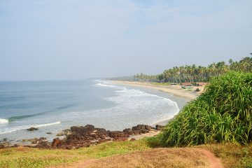 Beach at Varkala,Kerala, for relaxing