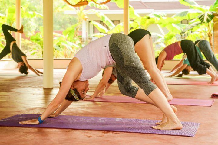 Meditative, relaxing, yoga class