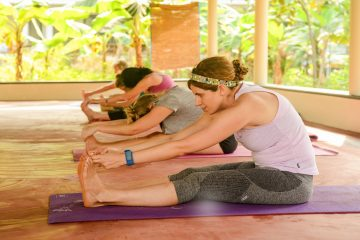 Wonderful relaxing yoga pose at yoga class in Varkala