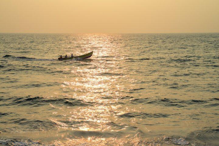 Fisherman boat on Arabian Sea