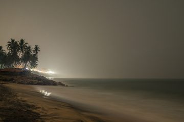 Night view of Varkala cliff, very relaxing beach