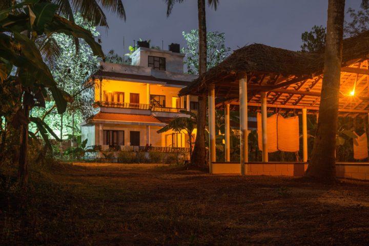 Yogahall at night