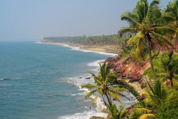 Varkala cliff, short distance from Sharanagati Yogahaus,Varkala, Kerala